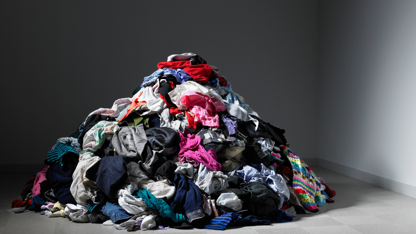 A pile of clothing.